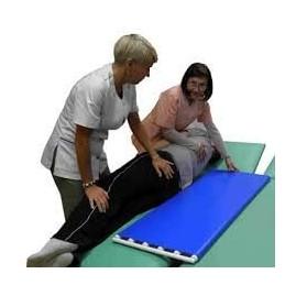 Przenośnik taśmowo - rolkowy do przesuwania pacjenta