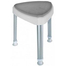 Trójkątny stołek prysznicowy z miękkim siedziskiem