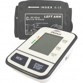 Ciśnieniomierz naramienny z funkcją wykrywania arytmii dużym mankietem i zasilaczem w zestawie